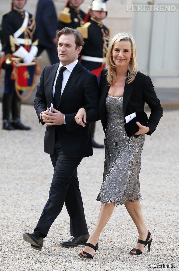 Laurence Ferrari et Renaud Capuçon, couple lumineux à la soirée de l'Elysée.