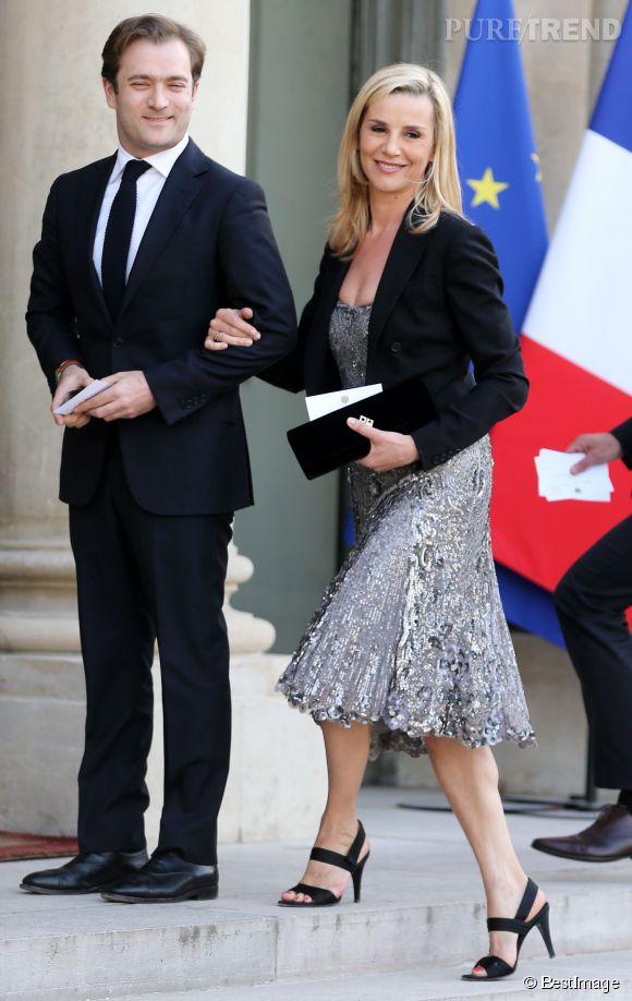 Laurence Ferrari et Renaud Capuçon se sont fait remarquer à la soirée de l'Elysée.