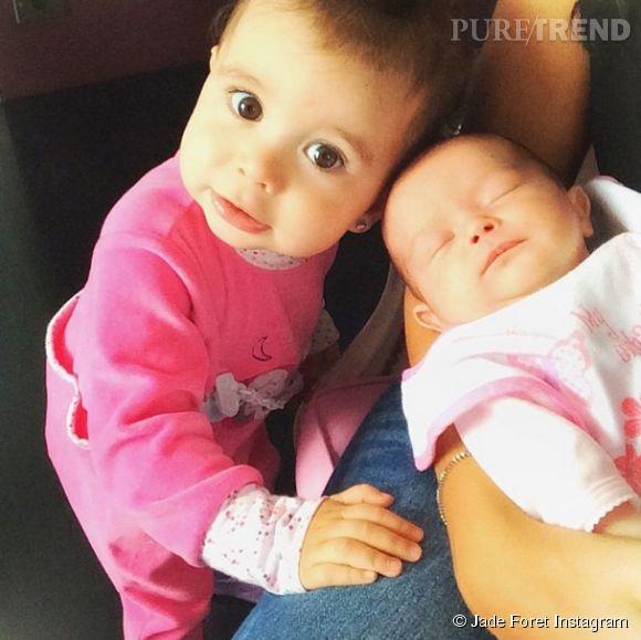 Jade Foret avec Liva et Mila sur Instagram le 9 avril 2014.