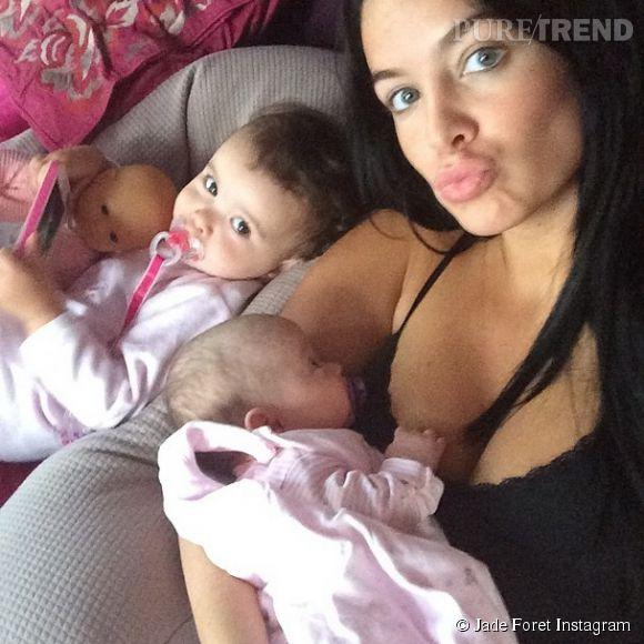 Jade Foret avec Liva et Mila sur Instagram le 6 mai 2014