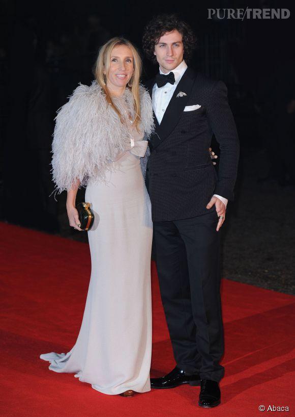 """Aaron Taylor-Johnson et sa femme Sam Taylor-Johnson qui va réaliser """"50 nuances de Grey""""."""