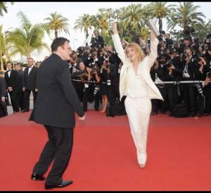La danse endiablée de Mélanie Laurent et Quentin Tarantino lors du Festival de Cannes 2009.