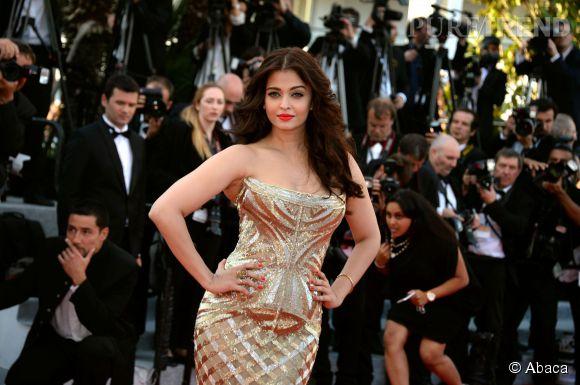 Aishwarya Rai lors du Festival de Cannes 2014
