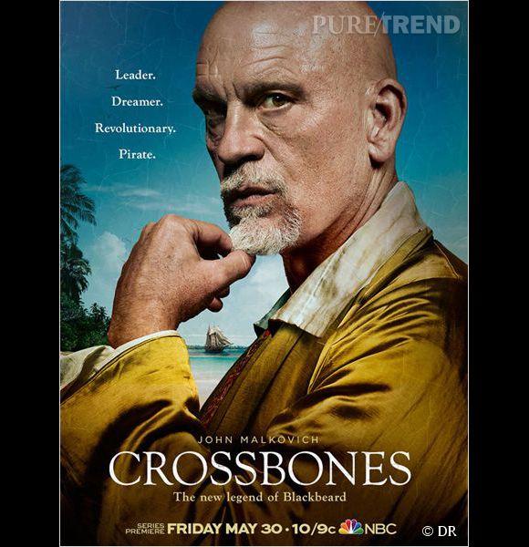 """Crossbones (NBC) 30 mai : Les fans de pirates ont déjà pu se régaler en regardant """"Black Sails"""" sur la chaîne Starz. Mais cet été, c'est """"Crossbones"""" qui nous offrira notre dose d'abordages, de combats à l'épée et de jambes de bois."""