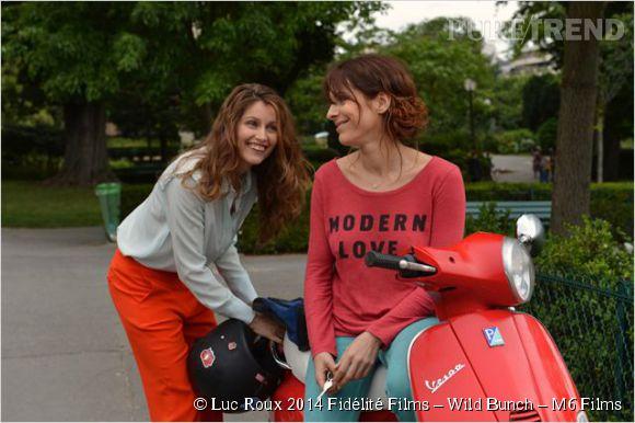 """""""Sous les jupes des filles"""", Audrey Dana donne la réplique à Laetita Casta."""