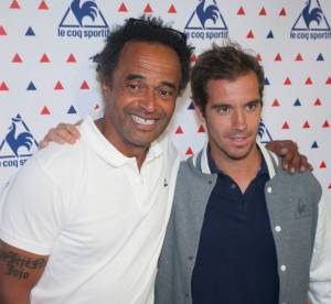 Yannick Noah et Richard Gasquet : un match en pleine rue pour le Coq Sportif