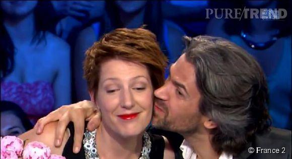 """Natacha Polony a fait ses """"au revoir"""" à """"On est pas couché"""" sur France 2, le 14 juin 2014."""