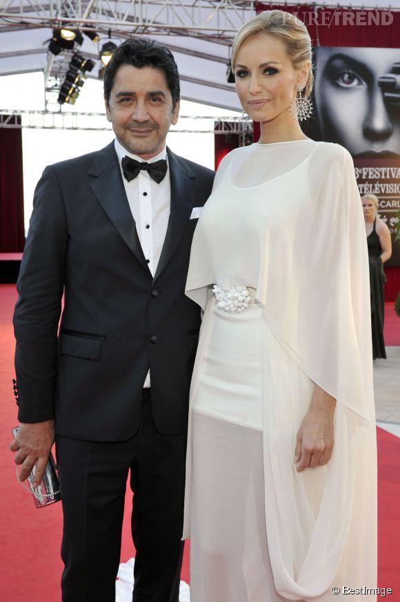 Adriana Karembeu et Aram au 53ème Festival de Télévision de Monte Carlo le 13 juin 2013.