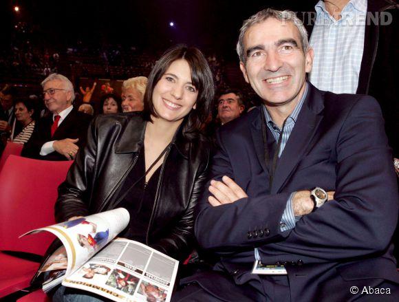 Estelle Denis et Raymond Domenech en 2004.