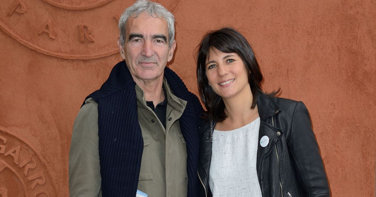 raymond domenech et estelle denis roland garros en 2014. Black Bedroom Furniture Sets. Home Design Ideas