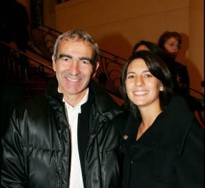 Raymond Domenech et Estelle Denis à Roland Garros en 2005.
