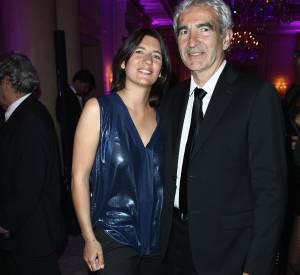 Estelle Denis et Raymond Domenech en 2013.