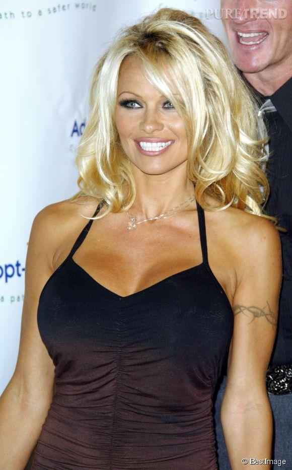 Pamela Anderson et son opulante poitrine : sa marque de fabrique.