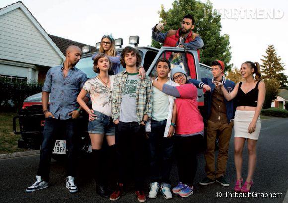 La joyeuse bande de lycéens du film  A toute épreuve , en salle mercredi 9 juillet 2014.