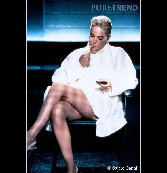 """Sharon Stone dans """"Basic Instinct"""" sorti en 1992."""