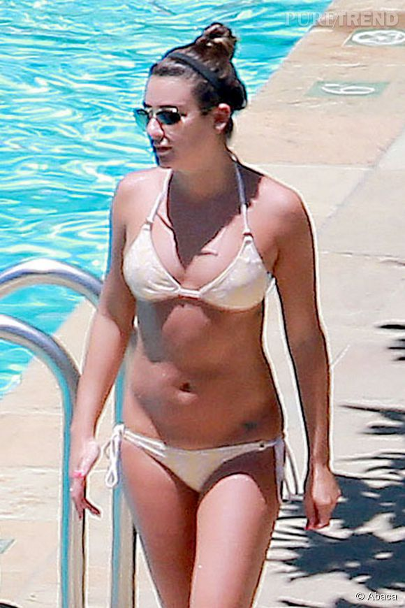 Lea Michele et sa silhouette de rêve en bikini à Santa Barbara, mercredi 16 juillet 2014.