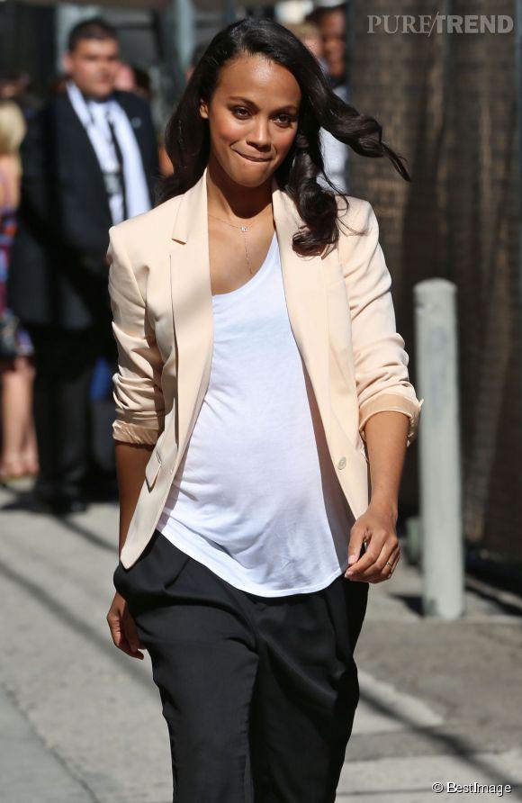 Zoe Saldana visiblement enceinte