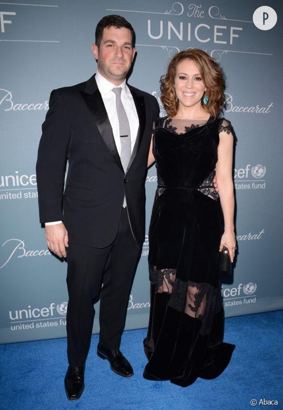 Alyssa Milano et son mari David Bugliari, futurs parents d'une petite fille sont aux anges.