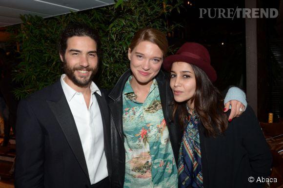 Tahar Rahim, Léa Seydoux et Leila Bekhti à Cannes en mai 2013.