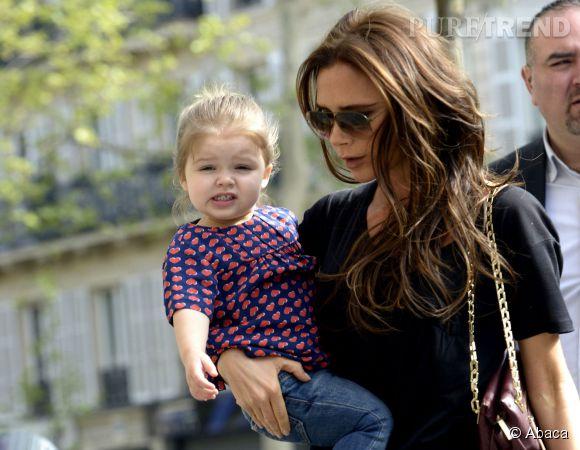 Victoria Beckham et sa fille Harper, mère et fille sont inséparables.