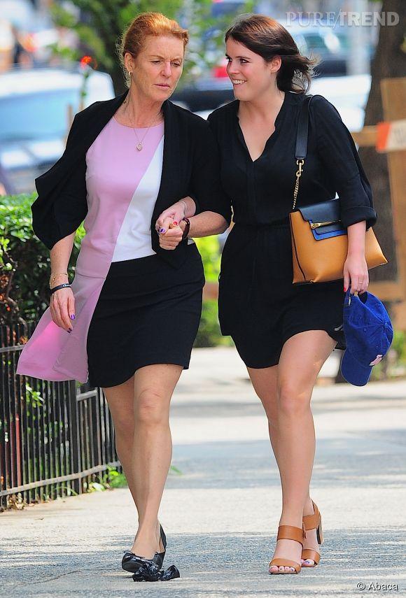 Princesse Eugénie opte pour un total look noir et Sarah Ferguson pour un peu plus de couleurs !