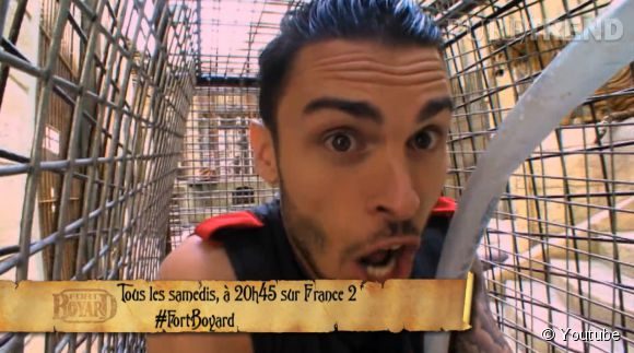 """Baptiste Giabiconi n'était pas vraiment serein dans l'épisode de """"Fort Boyard"""" ce samedi 2 juillet 2014 sur  France 2 ."""