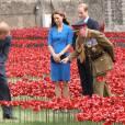 Kate Middleton avec le prince William et le prince Harry à la Tour de Londres pour un hommage aux victimes militaires de 14-18.