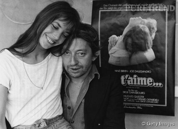 Jane Birkin et Serge Gainsbourg. Il a conquis les belles femmes de l'époque : qu'est-ce qu'elle lui trouvaient ? Le charme de l'homme à tête de chou ...