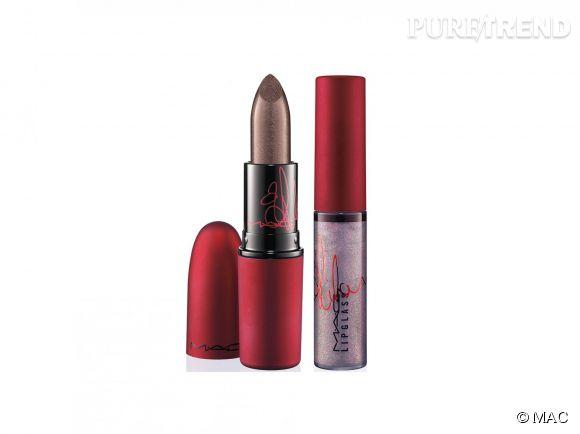 Viva Glam II : un rouge à lèvres et un lipglass mauve givré signés par Rihanna, disponibles en septembre au prix de 18,50 €.