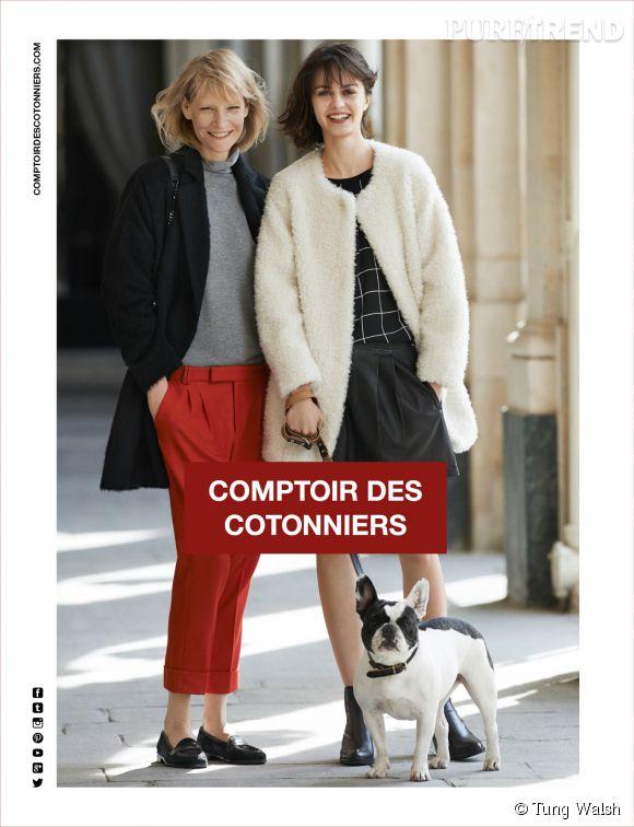 Campagne comptoir des cotonniers automne hiver 2014 2015 - Comptoir des cotonniers mere et fille ...