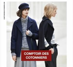 Campagne Comptoir des Cotonniers Automne-Hiver 2014/2015 avec Kirsten Owen et Martha Dyks.