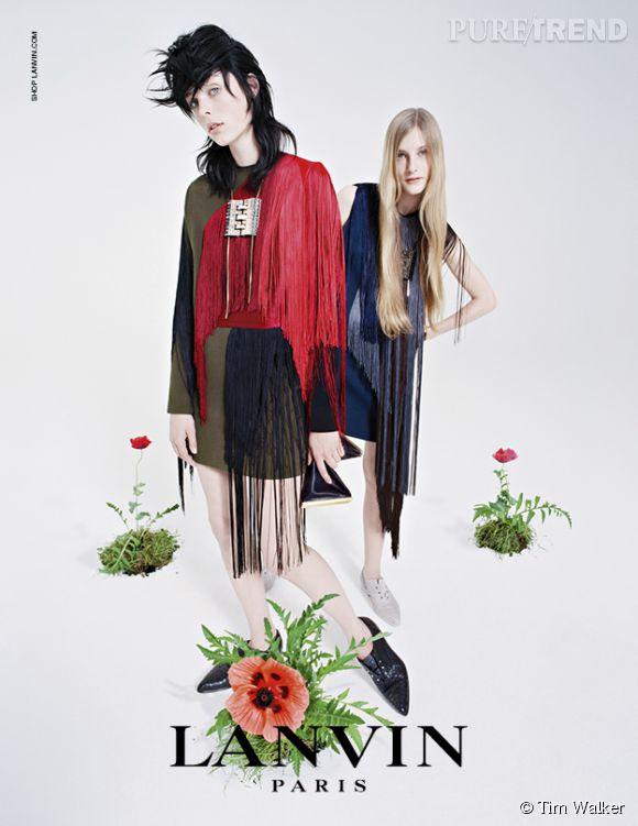 Campagne Lanvin Automne-Hiver 2014/2015 avec le mannequin Edie Campbell.