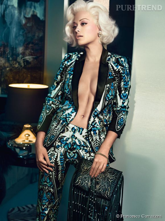 Campagne Roberto Cavalli Automne-Hiver 2014/2015 avec Rita Ora.