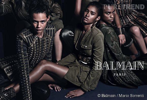 Campagne Automne-Hiver 2014/2015 Balmain avec, entre autres, Cara Delevingne et Jourdan Dunn.