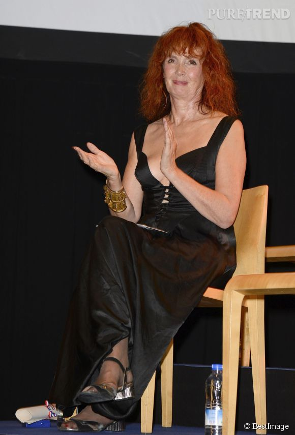 Sabine Azéma, présidente du jury du 7e Festival du Film d'Angoulême, hier soir lors de la cérémonie de remise des prix.