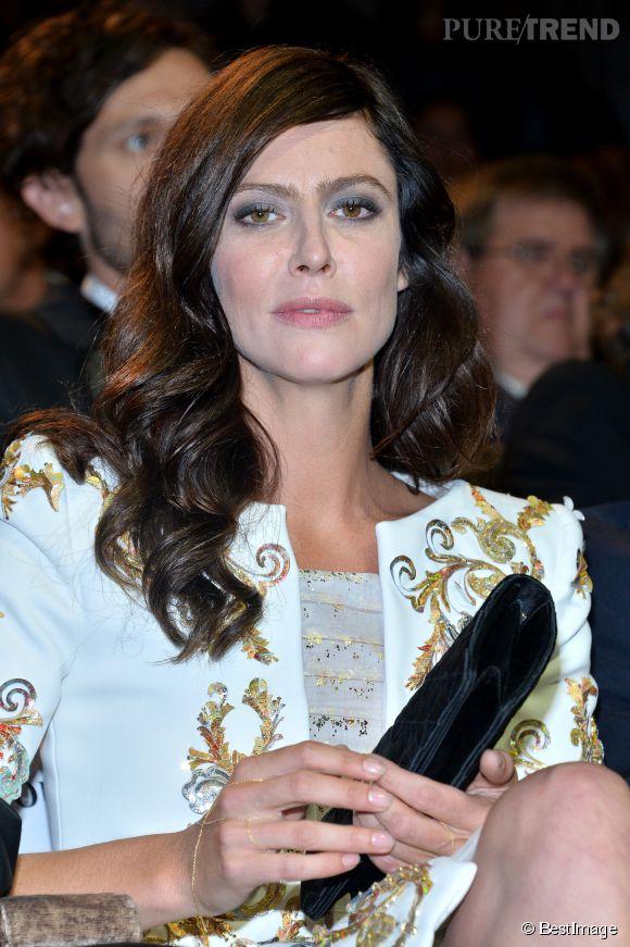 """Anna Mouglalis lors de la première de """"Il Giovane Favoloso"""" à Venise le 1er septembre 2014."""