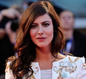 """Anna Mouglalis sur le red carpet de la première de """"Il Giovane Favoloso"""" à Venise le 1er septembre 2014."""