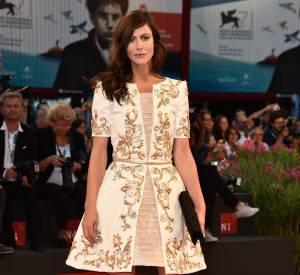 """Anna Mouglalis en Chanel Haute Couture à la première de """"Il Giovane Favoloso"""" à Venise le 1er septembre 2014."""