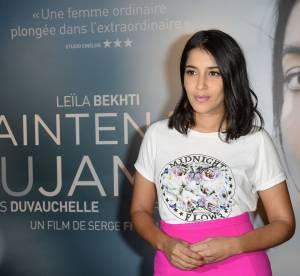 "Leïla Bekhti : mini bombe en maxi jupe pour ""Maintenant ou jamais"""