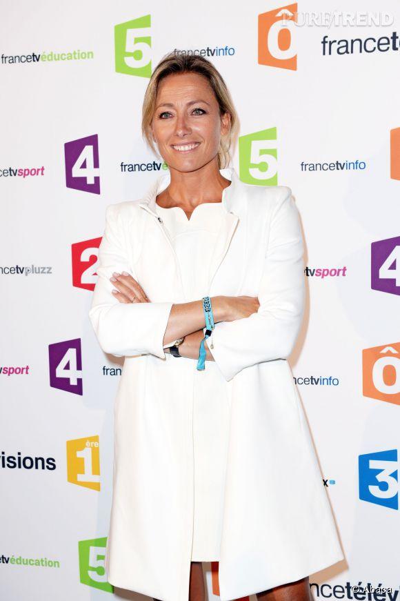 """Anne-Sophie Lapix rempile avec """"C à Vous"""" sur France 5."""