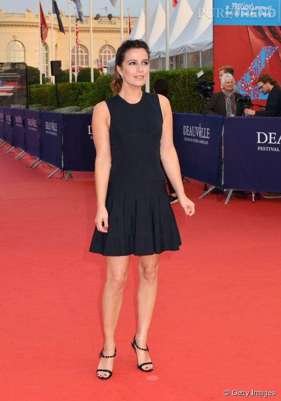 """Zoé Felix lors de la première du film """"Les recettes du bonheur"""" au Festival du Film Américain de Deauville le 7 septembre 2014."""