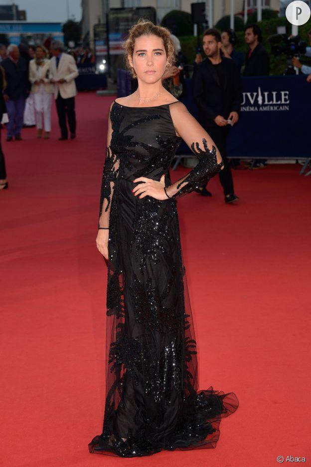 """Vahina Giocante lors de la première du film """"Les recettes du bonheur"""" au Festival du Film Américain de Deauville le 7 septembre 2014."""