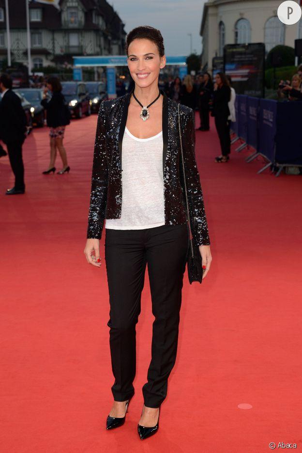 """Linda Hardy lors de la première du film """"Les recettes du bonheur"""" au Festival du Film Américain de Deauville le 7 septembre 2014."""