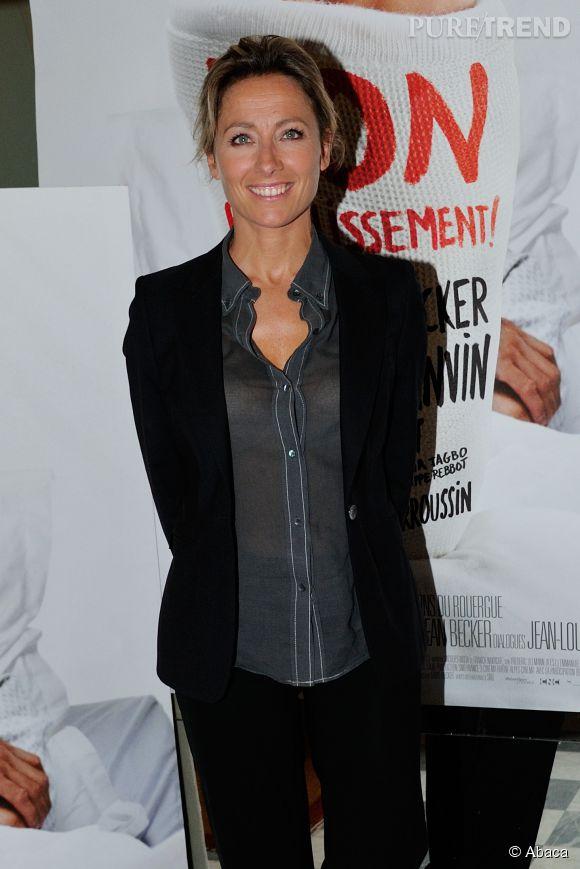 """Anne-Sophie Lapix lors de la projection du film """"Bon rétablissement !"""" le 8 septembre 2014 à Paris."""