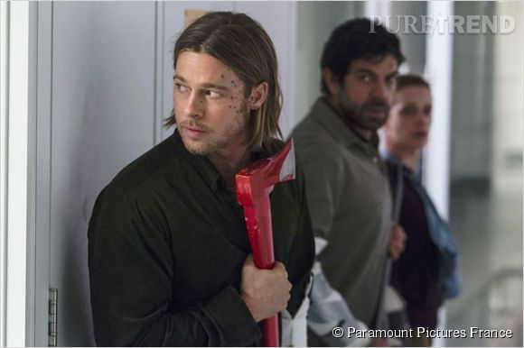 "Brad Pitt dans le blockbuster ""World War Z""."