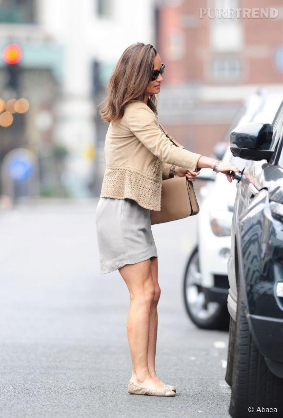 Pippa Middleton, des jambes bronzées à tomber dans les rues de Londres.