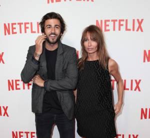 Axelle Laffont et son beau Cyril, un couple looké à la soirée de lancement de Netflix.