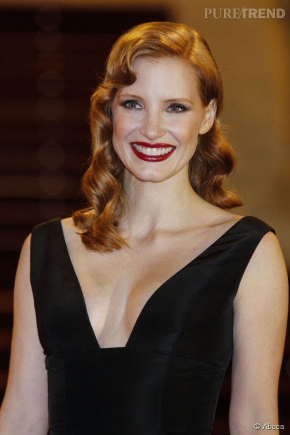 """Jessica Chastain, lumineuse à San Sebastian pour présenter """"The Disappearance of Eleanor Rigby""""."""