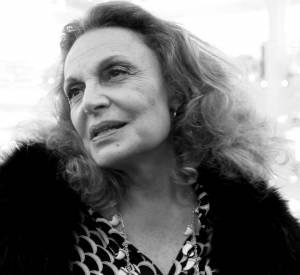 Diane von Furstenberg aux Galeries Lafayette ce mercredi 24 septembre 2014.