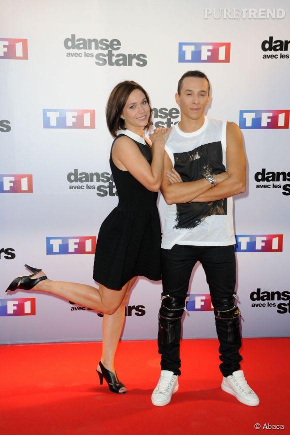 """Nathalie Péchalat et Grégoire Lyonnet au casting de """"Danse avec les stars 5""""."""